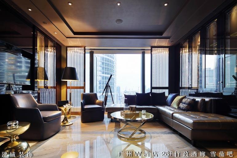 广州w酒店装修设计案例 - 酒店会所 - 深圳建威装饰