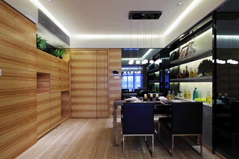 餐厅装修设计原则七: 餐厅墙面的装饰要注意体现个人风格,既要美观又